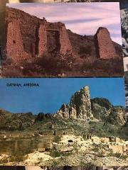 2 postcards oatman & mineral park nevada NV color photo adobe ...