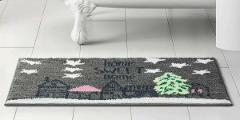 Area rug accent bath home decor gray pink green 18