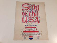 1964 Sing Of The USA U.S.A.With Chevrolet - Songbook