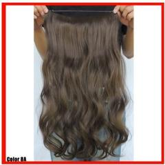 MED ASH BROWN #8A HALO STYLE FLIP IN STYLE HAIR EXTENSIONS 20...