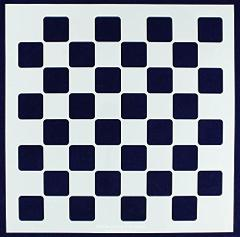 Chess/Checkerboard Stencil -16