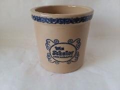 VINTAGE WIN SCHULER RESTAURANT Cheese CROCK NO LID