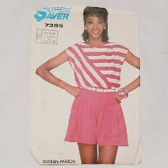 Misses Shorts Top Size 10 12 14 Simplicity 7395 Precut for siz...