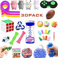 Fidget Toys Set,30 Pack.Sensory Toys Pack for Stress Relief AD...