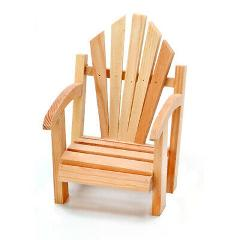 Darice Unfinished Wood Slat Chair - 3.74 inches x 4.2 inches x...