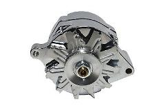 Chrome SB Ford 1G Style 110 AMP 1 Wire Alternator Mustang 289 ...