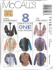 7416 UNCUT Vintage McCalls SEWING Pattern Mens Easy Fitting We...