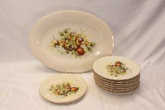 Sur La Table Italy Harvest Basket Platter and Salad Plates Set...