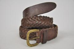 Brown Woven braided belt Medium made in INDIA 31