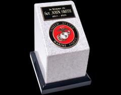 Large 223 Cubic Inch Marine Corps Cultured Granite Cremation U...