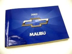 2002 CHEVROLET MALIBU Owners Manual Guide USED