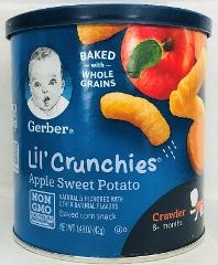 Gerber Lil Crunchies Apple Sweet Potato Baked Corn Snacks 1.48 oz
