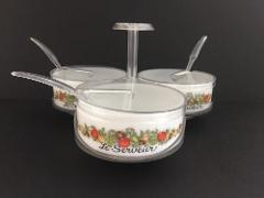Gemco Spice of Life 3 Dish Condiment Caddy Relish Server Lazy ...