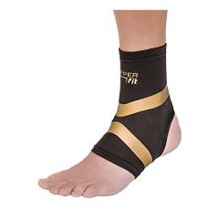 Copper Fit Pro Series Performance Compression Ankle Sleeve Bla...
