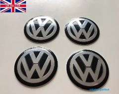 Vw 56mm Wheel Centre Cap tin stickers x4
