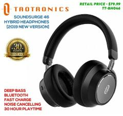 TaoTronics Hybrid Headphones 2019 New Model, Bluetooth Noise C...