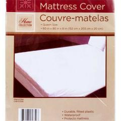 QUEEN SIZE MATTRESS COVER PROTECTOR, Plastic WATERPROOF w/ 12