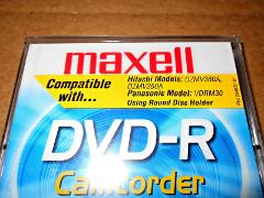 MAXELL Camcorder DVD R Round Holder Caddy New Media Disc Case ...