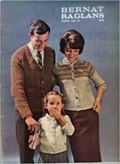 Vintage 60s Bernat Family Raglans Knitting Book Number 97