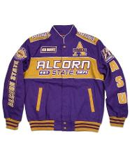 ALCORN STATE UNIVERSITY TWILL RACE JACKET HBCU RACE JACKET ASU...