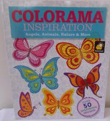 COLORAMA INSPIRATION Adult Coloring Book ANGELS ANIMALS NATUR...