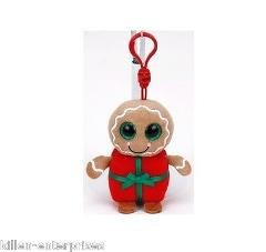 Ty Baby Beanies Sweetsy Gingerbread Present Plush Clip Keychai...