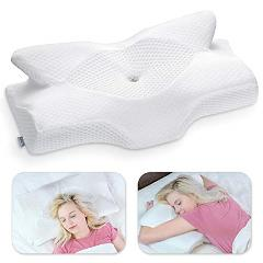 Elviros Cervical Memory Foam Pillow, Contour Pillows for Neck ...