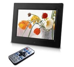Sungale CD802 8 Inch HD Digital Photo Frame Black Plays Slides...