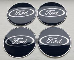 65mm Alloy Wheel Centre Hub Cap Tin & Resin Stickers for Ford ...