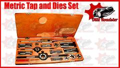 METRIC TAP AND DIE SET 06MM TO 24MM-COMPLETE METRIC HEAVY DUTY
