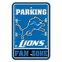 Detroit Lions Plastic Parking Sign - Fan Zone - NFL - Multi-Co...
