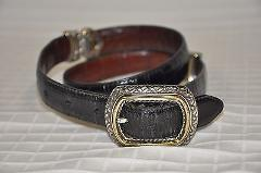Women's BRIGHTON Belt Black or Brown Leather reversible Size 3...