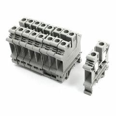 10 rail Terminal Block UK6N Screw Coupling 800V 57A Contact 6m...