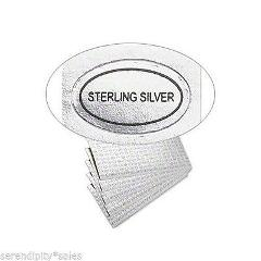 1,000 (1000) Peel Off Adhesive LABELS Oval 1/2