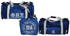 Phi Beta Sigma Duffle Bag Blue Running Fraternity Gym Travel S...