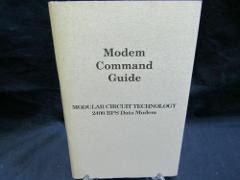VTG Modem Command Guide 2400 BPS Data Modem JDR Microdevices M...