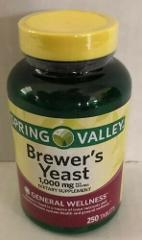 New Spring Valley Brewer's Yeast - 1000 mg, 250 count. exp 09/20
