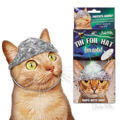 Tin Foil Hat For Conspiracy Theory Cats ! Pet Costumes By Arch...