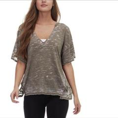 Free People Maddie Oversized Tee Top Military Green Medium M $...