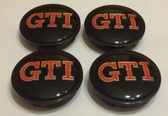 VW GTI Alloy Wheel Centre Hub Caps for VW Golf GTI Polo Passat...