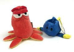 2 New HALLMARK Itty Bitty's FINDING DORY Hank OCTOPUS Fish Dis...