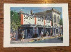 Sloppy Joe's Bar Key West Florida Art Print Signed RE Kennedy ...