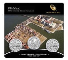 2017 P D & Proof S US Mint America The Beautiful Ellis Island ...