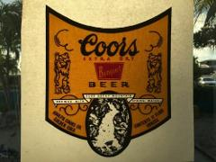Vintage Rat's Hole Iron On T Shirt Heat Transfer Coors Beer '8...