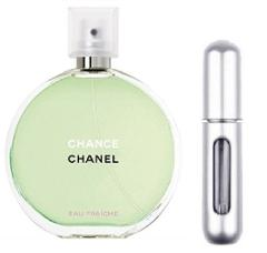 REFILLABLE PERFUME TRAVEL SPRAY WITH FREE 5ML CHANEL CHANCE EA...