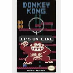 Nintendo It's On Like Donkey Kong Keychain Rubber Official Lic...
