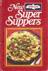 Vintage Birds Eye New Super Supper Cookbook Spiral Bound - 1980