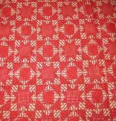 Red Quilt Look 100% cotton Fabric 40