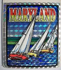 Maryland State Vinyl Reflective Souvenir Decal