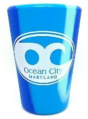 Ocean City Maryland Blue Swirl Silipint Silicone Shot Glass